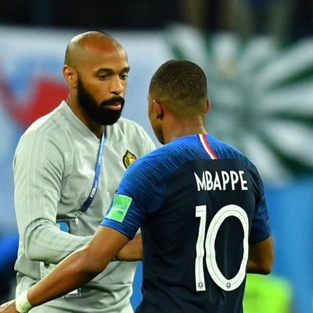 newest b9bee 321db The jersey of team France FFF worn by Kylian Mbappé on ...