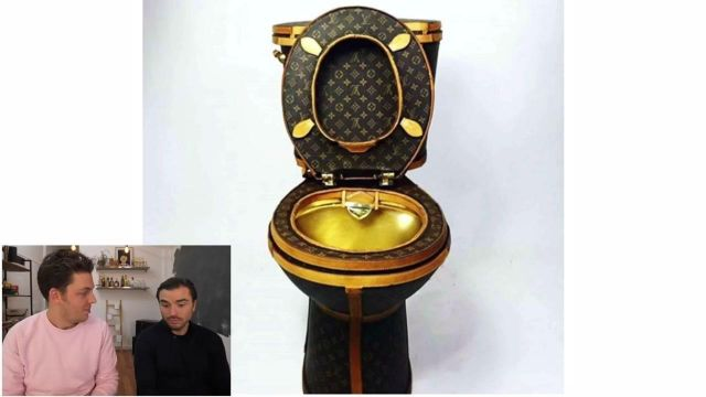 Louis Vuitton Toilet Seat.The Toilet In Brown And Gold Louis Vuitton Lv Views In The