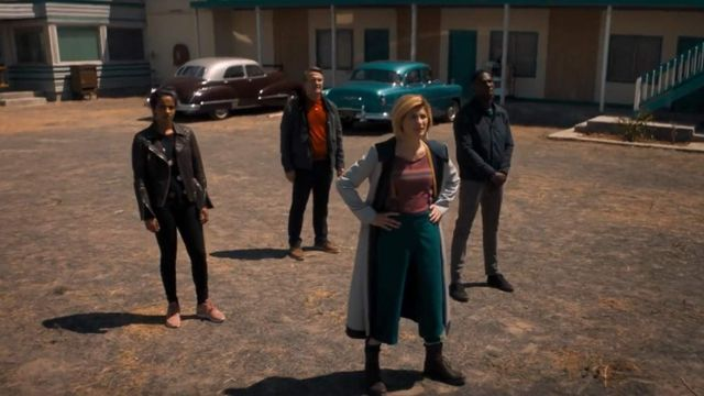 13 Doctor Who (Jodie Whittaker) manteau à capuchon comme dans Doctor Who