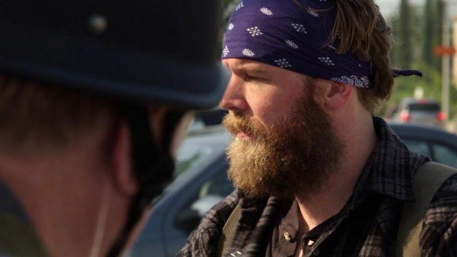 Purple Paisley Headband worn by Harry Winston / Opie's (Ryan Hurst) as seen in Sons of Anarchy 1x02