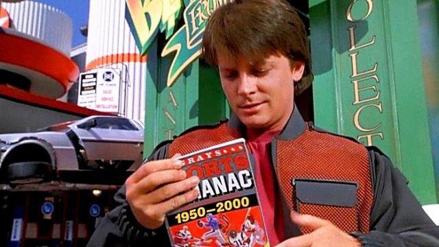 Almanac des sports de Marty McFly Jr. (Michael J. Fox) dans Retour vers le futur II