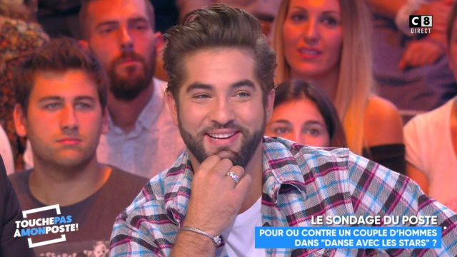 The plaid shirt of Kendji Girac in #TPMP't Touch my post of September 3, 2018