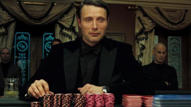 La montre Longines Evidenza Chronograph portée par Le Chiffre (Mads Mikkelsen) dans Casino Royale