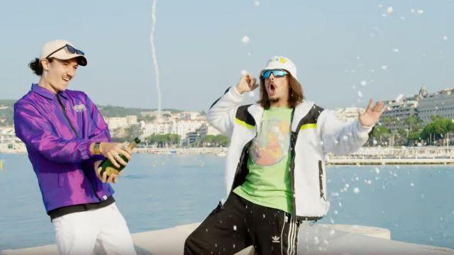La bouteille de Champagne Ruinart de Lorenzo dans son clip Champagne & Pétou feat. Charles Vicomte