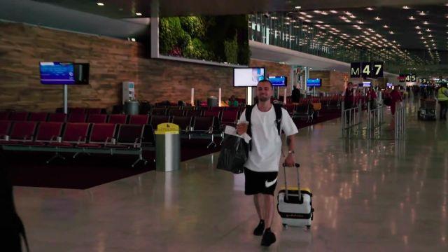 Le short de basketball Nike 23 cm de Squeezie dans la vidéo YouTube ON ROULE EN HARLEY DAVIDSON (Vlog Los Angeles 1)