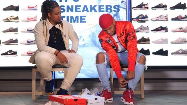 Les Sneakers rouges Nike Air Max 95 portées par Kader Diaby 4REAL dans KADER DIABY 4REAL - Bail 2 Sneakers