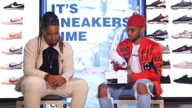 "Les Sneakers blanches Nike air vapormax de Kader Diaby 4REAL dans la video youtube ""Kader Diaby 4REAL - Bail 2 Sneakers"""