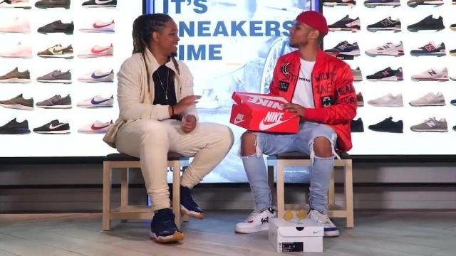 """Les Sneakers bleues Nike Air Jordan 11 Retro Low """"navy Gum"""" de Baloo dans la vidéo """"KADER DIABY 4REAL - Bail 2 Sneakers"""""""