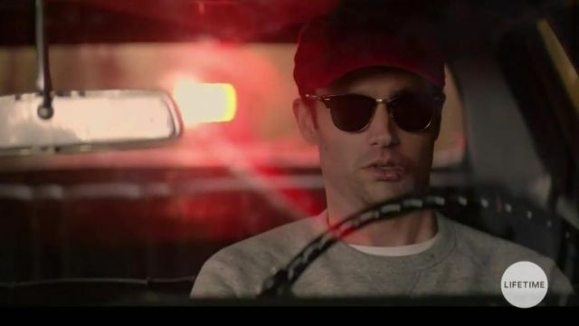 Black Moscot sunglasses worn by Joe Goldberg (Penn Badgley) in the tv show YOU S01E02