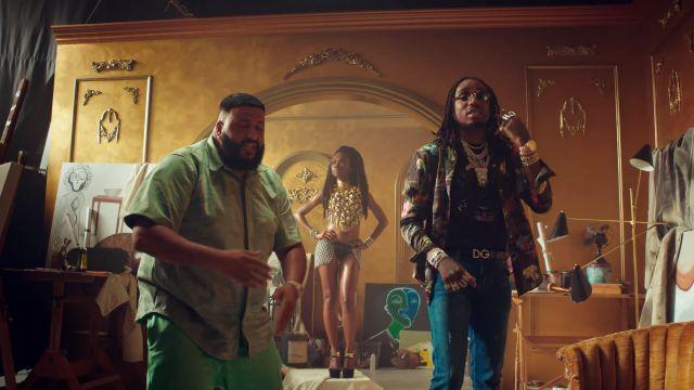 """La ceinture Dolce & Gabbana de Quavo dans le video clip """"No Brainer"""" de DJ Khaled ft. Justin Bieber, Chance the Rapper"""