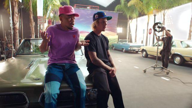 """La casquette New Era rose """"3"""" de Chance The Rapper dans le video clip """"No Brainer"""" de DJ Khaled ft. Justin Bieber, Quavo"""