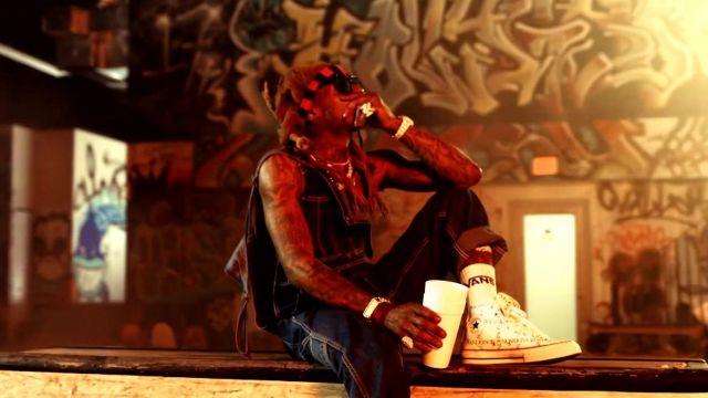 The knee socks Vans Lil Wayne on Swizz Beatz - Pistol On My Side (P. O. M. S) ft. Lil Wayne