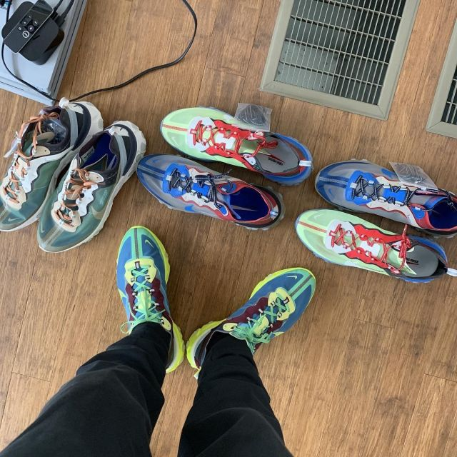 Sneakers fluo, Nike react 87 undercover of J. R. Smith on the ...