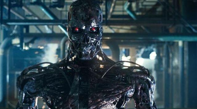 Le masque du Terminator dans le film Terminator