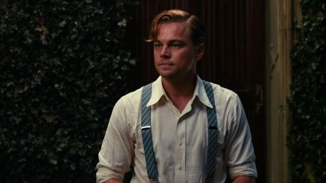 Jay Gatsby's (Leonardo DiCaprio) striped suspenders as seen in The Great Gatsby