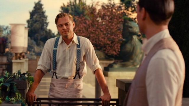 Jay Gatsby's (Leonardo DiCaprio) trousers as seen in The Great Gatsby