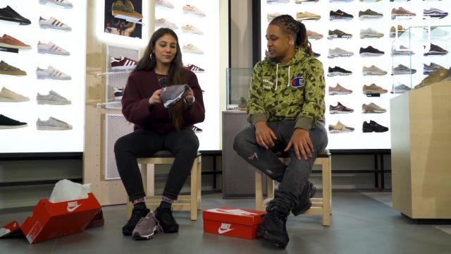 """Les sneakers noires Nike Air Max 95 de Baloo dans la vidéo YouTube """"CHILLA – Bail 2 Sneakers"""""""