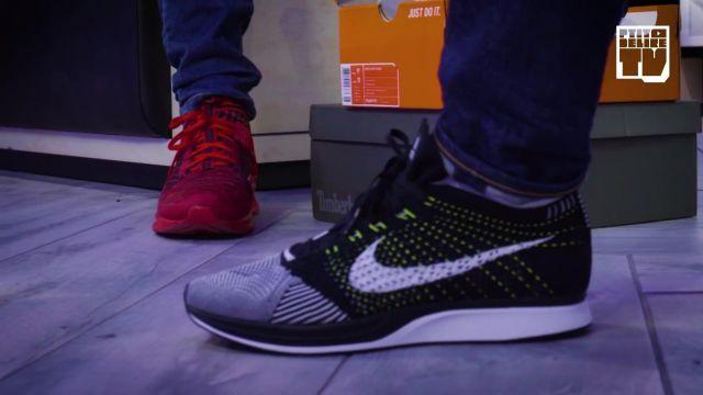 Les sneakers filet Nike Flyknit Racer de Deen Burbigo dans la vidéo YouTube MASKEY & DEEN BURBIGO – Bail 2 Sneakers