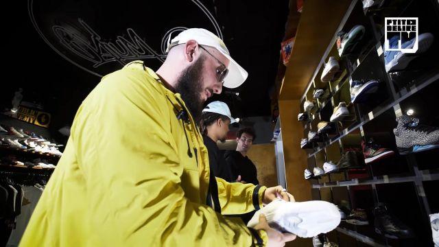 La paire de Nike Air Jordan 11 low white de Caballero dans la vidéo YouTube CABALLERO & JEANJASS – Bail 2 Sneakers