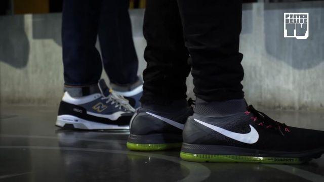 "Les baskets New Balance de Jeanjass dans la vidéo YouTube ""CABALLERO & JEANJASS – Bail 2 Sneakers"""