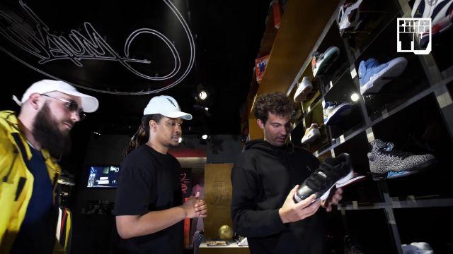 "Les sneakers noires Nike Air Jordan 11 Space Jam de Jeanjass dans la vidéo YouTube ""CABALLERO & JEANJASS – Bail 2 Sneakers"""