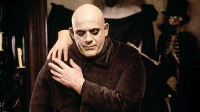 Le déguisement de Fetide Addams (Christopher Lloyd) dans La Famille Addams