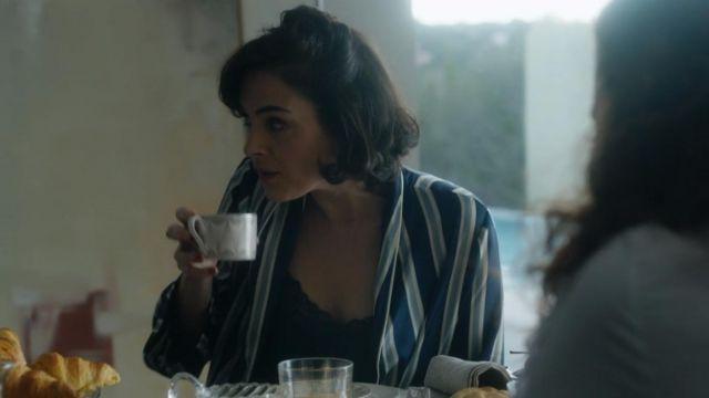 La chemise rayée bleu vu dans Elite (S01E01)