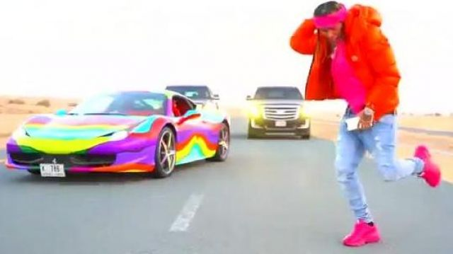 Pink Gucci sneakers worn by 6ix9ine in the music video