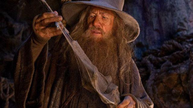 L'épée de Gandalf (Ian McKellen) dans Le Hobbit : Un voyage inattendu