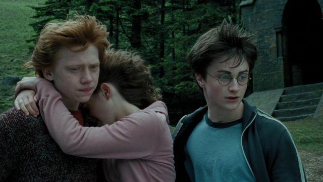 Rétro Film T-Shirt Homme Harry Potter Lunettes Poche Gris T-Shirt