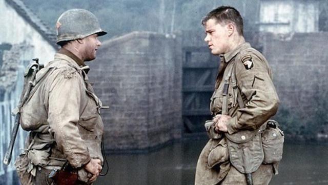 La tenue de parachutiste portée par Private Ryan (Matt Damon) dans Il faut sauver le soldat Ryan