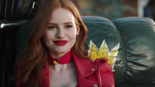 Red Leather Choker Necklace Worn By Cheryl Blossom