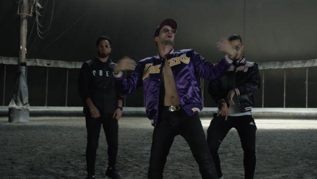 Le blouson Nike argenté porté par Soolking dans son clip