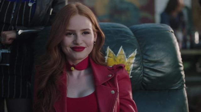 The Jacket In Red Leather Maje Worn By Cheryl Blossom