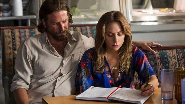 Blue Floral Blouse worn by Ally (Lady Gaga) as seen in A Star Is Born