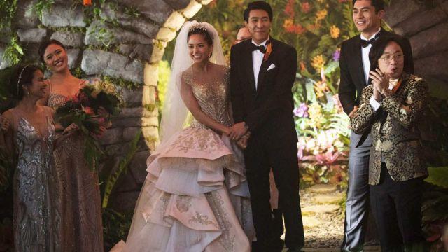 The wedding dress Carven Ong Couture of Araminta Lee (Sonoya Mizuno) in Crazy Rich Asians