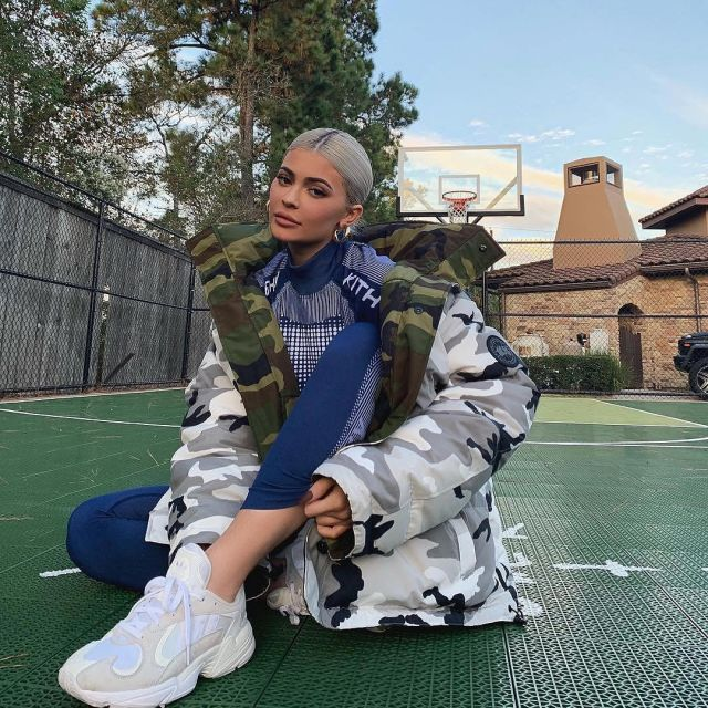 Adidas White sneakers worn by Kylie