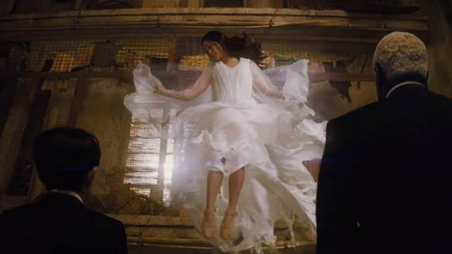 The pair of ballet shoes flesh colour of Hong Chau in Artemis Fowl