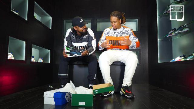 Les sneakers Puma RS X Toys portées par Alonzo dans la vidéo