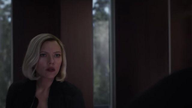 Jacket bomber black worn by Natasha Romanoffs / Black Widow (Scarlett Johansson) in the Avengers Endgame