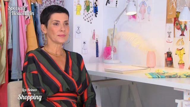Le Chemisier rayé noué à la taille de Cristina Córdula dans Les reines du shopping du 20/11/2018