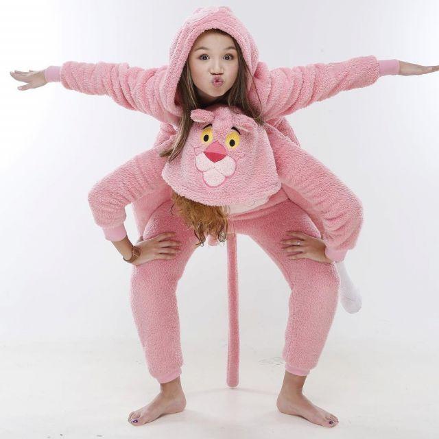 matériaux de haute qualité classcic vente de sortie Le pyjama combinaison La panthère rose Undiz porté par Leany ...