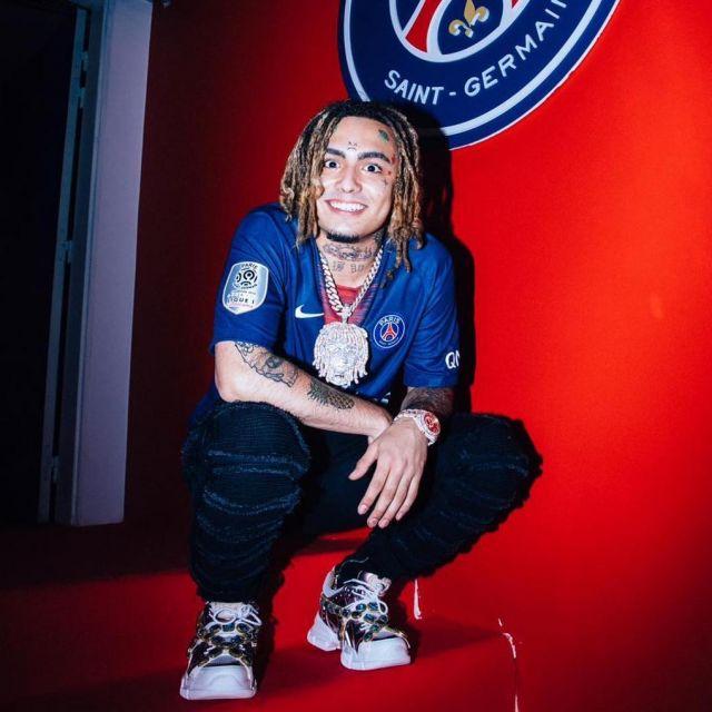 Le maillot Nike du PSG de Lil Pump sur son compte Instagram
