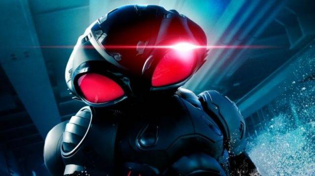 The helmet of David Hyde / Black Manta (Yahya Abdul-Mateen II) in Aquaman