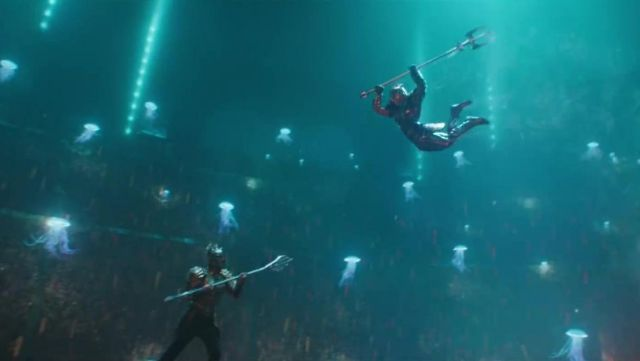 The trident of King Orm / Ocean Master (Patrick Wilson) in Aquaman