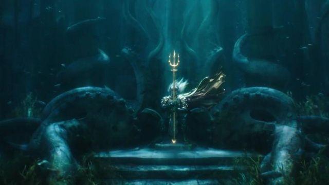 Aquaman's (Jason Momoa) Atlan King trident as seen in Aquaman