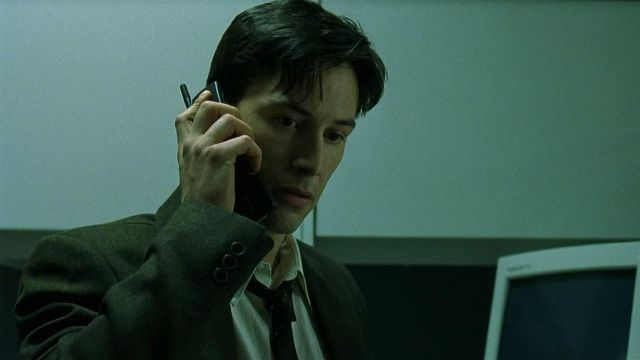 Nokia 8110 mobile phone used by Neo (Keanu Reeves) in The Matrix