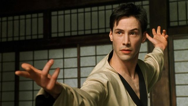 Martial Arts Uniform in white worn by Neo (Keanu Reeves) in The Matrix
