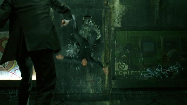 Hewlett Packard of Neo (Keanu Reeves) in The Matrix