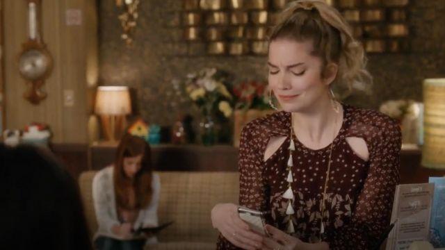 Isabel Marant Etoile Prewitt de la feuille d'impression georgette robe portée par Alexis Rose (Annie Murphy) dans Schitt s Creek S04E07